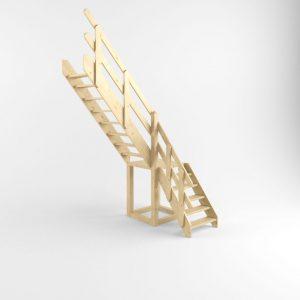 ФОТО Деревянная лестница на тетиве