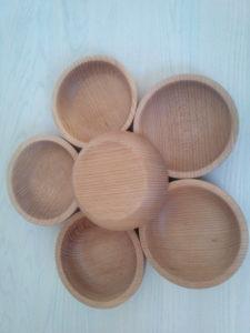 Деревянная посуда. Набор деревянных тарелок.
