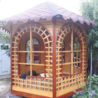 Беседка садовая из дерева купить в Харькове