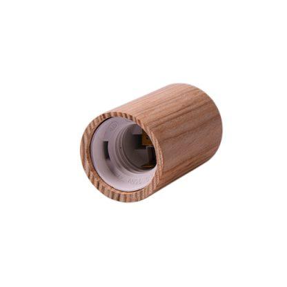 Декоративный патрон из дерева закругленный е 14