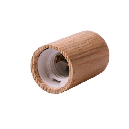 Декоративный патрон из дерева фото е14