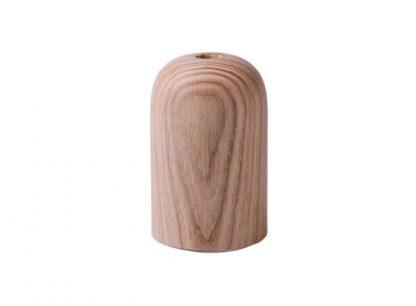 Декоративный патрон из дерева для ламп фото