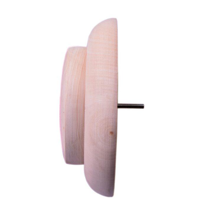 Вентиляционная заглушка для бани из липы круглая 1