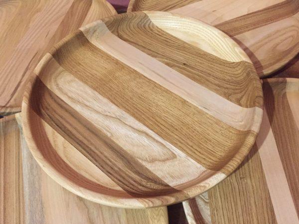 Набор тарелок из дерева Полосатик