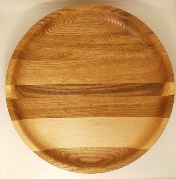 Деревянная тарелка 26 см Полосатая