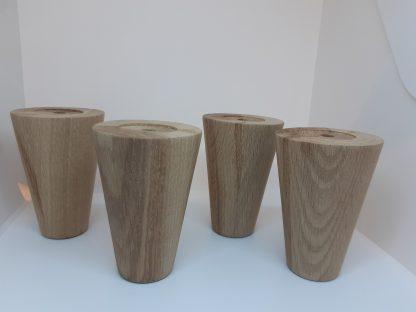 Мебельная опора конусные ножки из дуба100 70 40