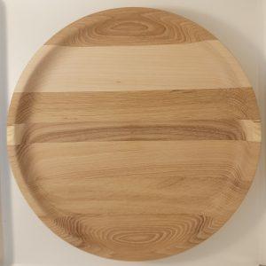 Плоская тарелка из дерева 26 см купить